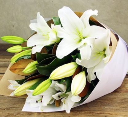 Perth Lock Down Special. Locally Grown Oriental Lilies In Wrap.
