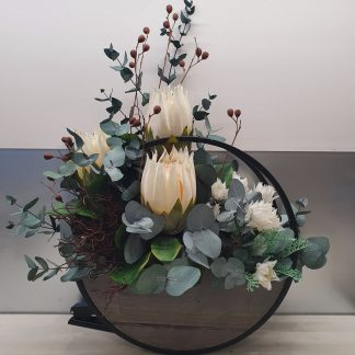 Wall Hanging arrangement of Forever Flowers