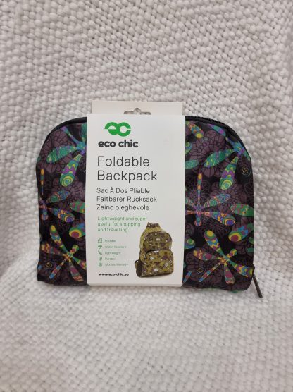 Eco Chic Foldable Backpack - Dragonfly