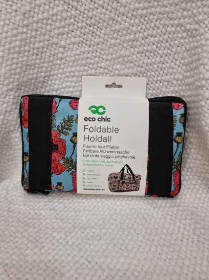 Eco Chic Foldable Holdall. - Poppy