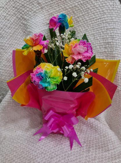 perth special rainbow carnation arrangement